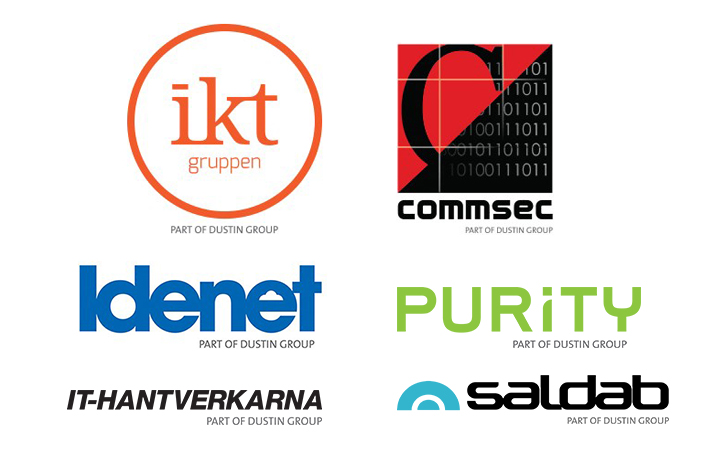 IKT Gruppen, Idenet, Commsec, Purity IT, IT-hantverkarna, Saldab